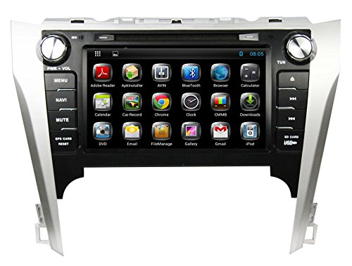 For Toyota Camry 2012 Android 4.2.2 Dual Core system multi-Touch Screen Car DVD GPS Navigation Build-In Bluetooth,Radio with RDS,Analog TV, AUX&USB, iPhone/iPod Controls, Steering Wheel Control, Rearview camera, Free Map 7 touch screen 7021g car bluetooth mp3 mp4 mp5 player gps navigation support tf usb aux fm radio rearview camera steering wheel
