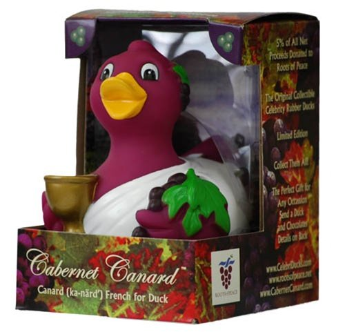 CelebriDucks Cabernet Canard Wine Lovers RUBBER DUCK Bath Toy