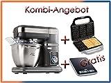DOMO Küchenmaschine 1000W inkl. Waffeleisen und GRATIS Küchenwaage; DO9070KR, DO9105W; DO9057W