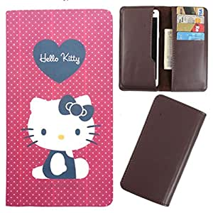 DooDa - For Lava iris 359 PU Leather Designer Fashionable Fancy Case Cover Pouch With Card & Cash Slots & Smooth Inner Velvet