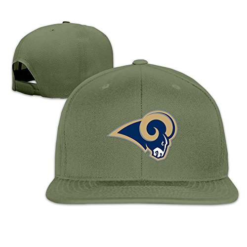 Custom Unisex-Adult St Louis Football Team Flat Billed Baseball Cap Hats ForestGreen (Car Washing Street compare prices)