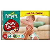 Pampers Easy Up Pants Size 4 Mega Pack, 84 Nappies (Pack of 4)