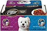 Cesar Canine Cuisine Variety Pack (New York Strip, Filet Mignon) for Small Dogs, 3.5-Ounce Trays (Pack of 24)