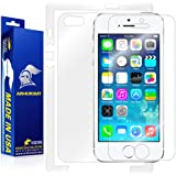 ArmorSuit MilitaryShield - Apple iPhone 5S Screen Protector Shield Ultra Clear + Full Body Skin Protector & Lifetime Replacements