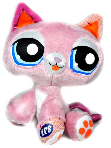 Buy Low Price Hasbro Littlest Pet Shop Collectible 7 Inch Tall Pet Plush Figure – Pink Kitty Cat (B004L925J0)