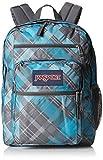 "JanSport Big Student Backpack - Mammoth Blue Sideways Plaid / 17.5""H x 13""W x 10""D"