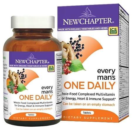 海淘新章保健品:New Chapter 新章每日一片系列男性综合维生素