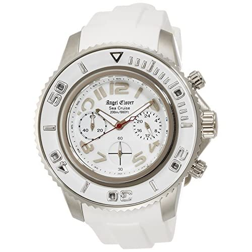 [エンジェルクローバー]Angel Clover 腕時計 シークルーズ ホワイト文字盤 クロノグラフ 200m防水 SC47SWH-WH メンズ
