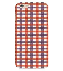 PrintVisa Checks Fabric Pattern 3D Hard Polycarbonate Designer Back Case Cover for Apple iPhone 6S Plus