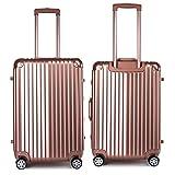 スーツケース フレームタイプ 軽量で耐衝撃 TSAロック搭載 静音キャスター 旅行用はもちろんビジネス・出張用としてもOK! おしゃれ 5カラーから選択可能 26インチ ローズゴールド