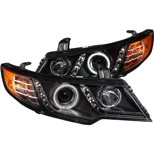 BRYGHT For 2000-2005 Chevy Impala Headlight Assembly Replacement Black Headlamp Clear Lens Amber Reflector