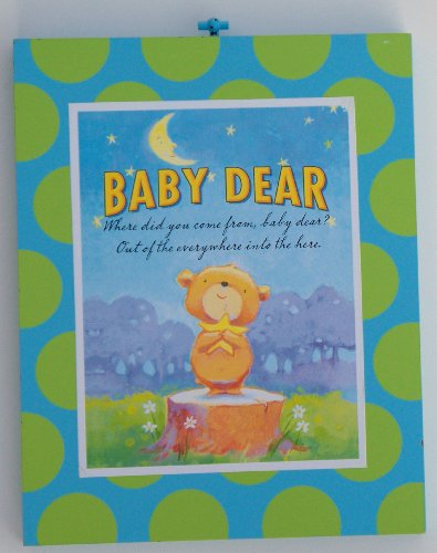 Baby Dear Wood Nursery Wall Art Plaque BLUE