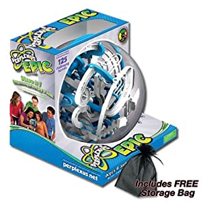 Perplexus Epic Maze Game by PlaSmart 125 Challenging Barriers with FREE Storage Bag