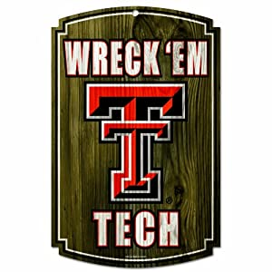 Buy NCAA Texas Tech Red Raiders 11-by-17 Wood Sign by WinCraft