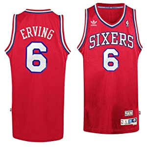 Philadelphia 76ers #6 Julius Erving NBA Soul Swingman Jersey, Red by adidas