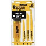 DEWALT DW4898 Bi-Metal Reciprocating Saw Blade Set with Case, 10-Piece