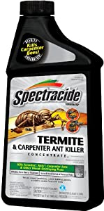 Spectracide 63381 Terminate Termite and Carpenter Ant Killer Concentrate, 32-Ounce, Pack of 6