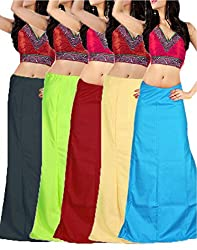 Ramaya Womens Cotton Petticoat Combo Pack of 5 (PTC03_Free Size_multi)