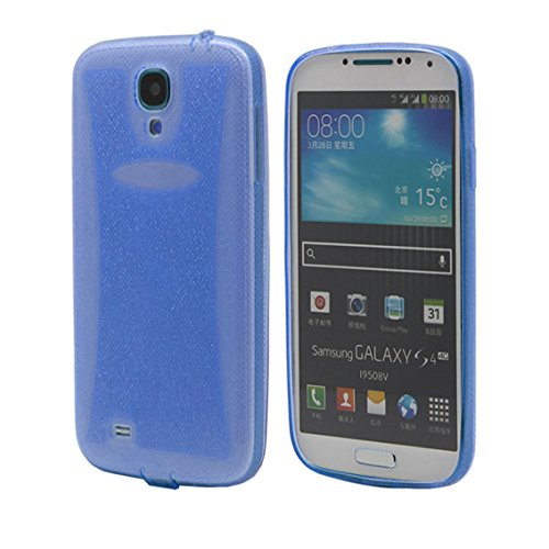 elecdorith Ultra Slim TPU Case Silikon Tasche Schutzhülle für Samsung Galaxy S4 i9500, Samsung Galaxy S4 Hülle (Samsung Galaxy S4, blau)
