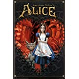 American McGee's Alice (Key Art, Alice and Cheshire Cat) Video Game Poster Print - 22x34 Poster Print Poster Print, 22x34 Poster Print, 22x34