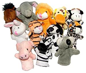 12 PC Animal Finger Puppets