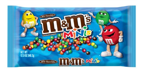 M&M's Milk Chocolate Minis Candy, 12-Ounce Packages (Pack of 6)