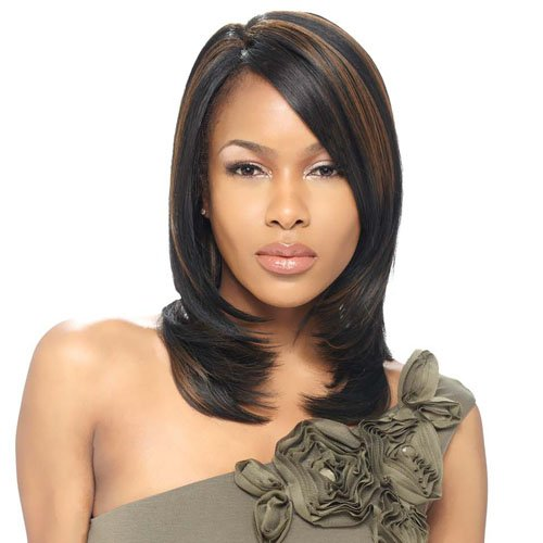 Model Model Natural Part Synthetic Lace Front Wig - Verona-F237