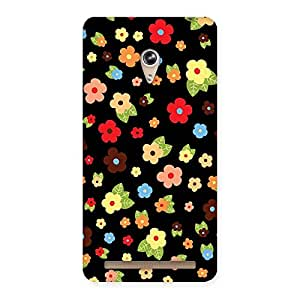 Cute Multicolor in Black Back Case Cover for Zenfone 6