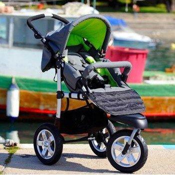 Grey Pushchair  &  Carrycot / Stroller plus FREE Footmuff, Mamma Bag  &  Rain Cover