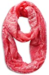 Peach Couture Womens Damask Print Infinity Loop Scarves