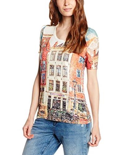 PEACE & LOVE BY CALAO T-Shirt Manica Corta [Multicolore]
