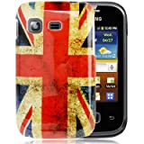 Rocina Hard Mobile Phone Case for Samsung S5300 Galaxy Pocket with Retro England Flag Design