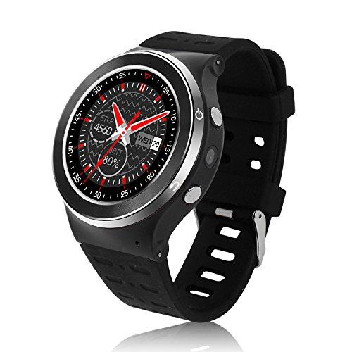 Orologio Sport Outdoor telefono orologio da polso GPS Smart S99 Smartwatch Bluetooth smart SIM Slot per schede TF Android 5.1 smartphone cardiofrequenzimetro - Nero Argento