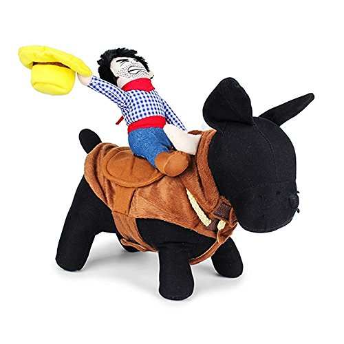 PetBoBo Pet Dog Halloween Cowboy Funny Costume Dog Riders Clothes Pet Costume Apparel XL (Halloween Costumes Cowboy)