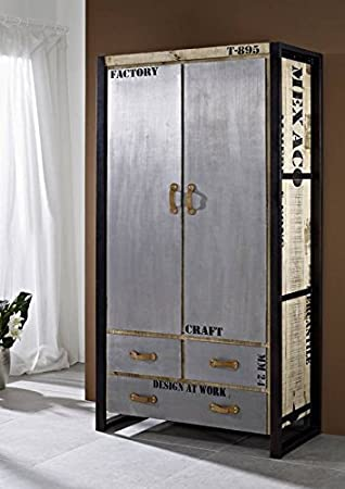 Maciza muebles diseño macizo industrial-Stil armario Mango madera maciza hierro Factory #137