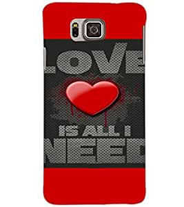 SAMSUNG GALAXY ALPHA LOVE Back Cover by PRINTSWAG