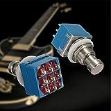 1PCS 9pins 3PDT Guitar Effects Pedal Peg Metal Switch Box Stomp Foot True Bypass