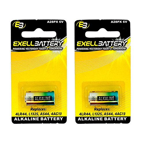 2x Exell A28PX Alkaline 6V Battery Replaces PX28A, A544, 4LR44, K28A, V34PX, 7H34, 4NZ13, V4034PX, L1325, 4G13, 4034PX, PX28AB, 1414A FAST USA SHIP (Household Batteries compare prices)