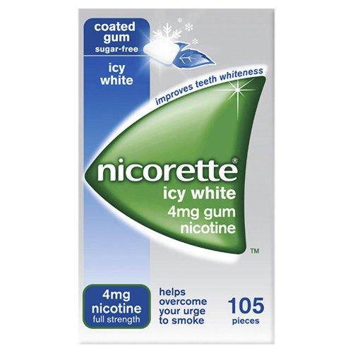 Nicorette Chewing Gum Icy White Gum 4mg Quantity 105