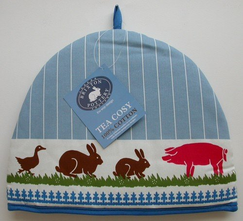 Brixton Pottery Tea Cosy Farm Animals By Ecp Design