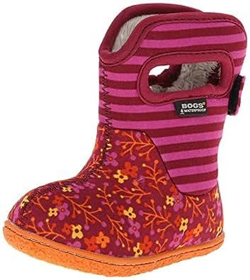 Amazon.com: Bogs Toddler Classic Flower Stripes Winter