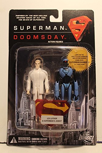 DC Direct: Superman/Doomsday Lex Luthor and Superman Robot Action Figure 2-Pack - 1