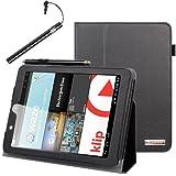 BIRUGEAR SlimBook Leather Folio Stand Case Cover with Stylus for E-Fun Nextbook Premium 8HD (NX008HD8G) - 8