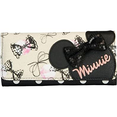 Disney Minnie Mouse W/Sequins Bows Wallet,Multi,One Size