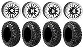 ITP SD Dual Beadlock 14″ Wheels 30″ Kanati Mongrel Tires Sportsman RZR Ranger
