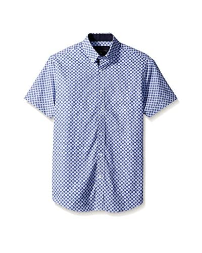 Report Collection Men's Circle Houndstooth Sport Shirt