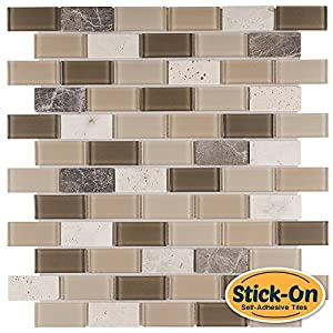 peel stick tiles 15 ft backsplash kit rome