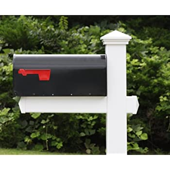 The Homestead Vinyl / PVC Mailbox Post (Includes Mailbox)
