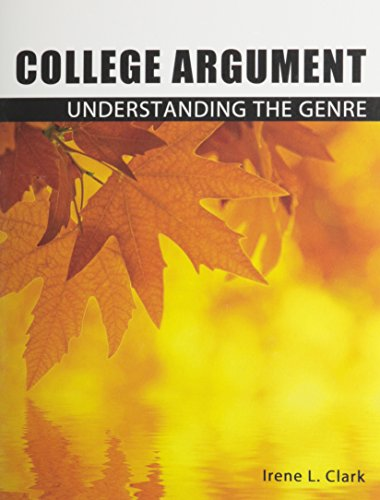 college argument Instructors tend to spend the most time on this, as it requires the most student research in this unit, students should learn to evaluate and use evidence effectively, structure an argument, and understand shared assumptions.