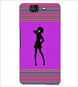 PrintDhaba Girly Design D-2601 Back Case Cover for MICROMAX A350 CANVAS KNIGHT (Multi-Coloured)